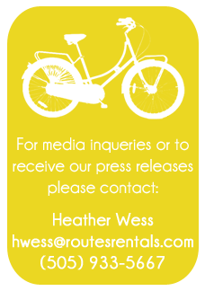 Routes Bicycle Rentals Press Contact Info