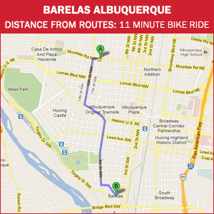 Routes Bicycle Rentals & Tours. Barelas and South Valley, Albuquerque, New Mexico by bike.