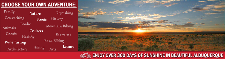 Routes Bicycle Rentals & Tours in Albuquerque Weather