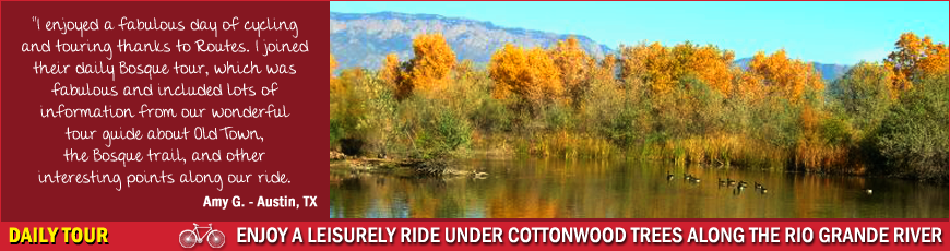 Routes Rentals & Tours - Daily Bosque Bike Tour