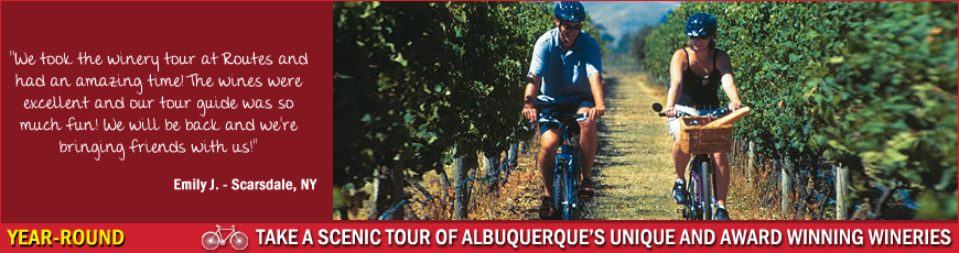 Routes Rentals & Tours - Albuquerque Winery Bike Tour