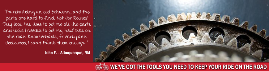 Routes Rentals & Tours - We carry a large selection of bike parts and tools to keep you on the road