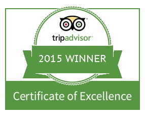 Routes Bicycle Tours & Rentals received the 2015 Certificate of Excellence from Trip Advisor