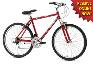 Albuquerque bicycle rentals, hybrids at Routes Rentals & Tours