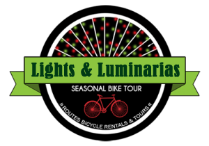 Albuquerque New Mexico Lights and Luminaria Bike Tour with Routes Bicycle Rentals and Tours ABQ best!