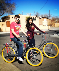 Valentine's Day Bike Tours with Routes Bicycle Rentals & Tours offers you a fresh prospective on romance in Albuquerque.