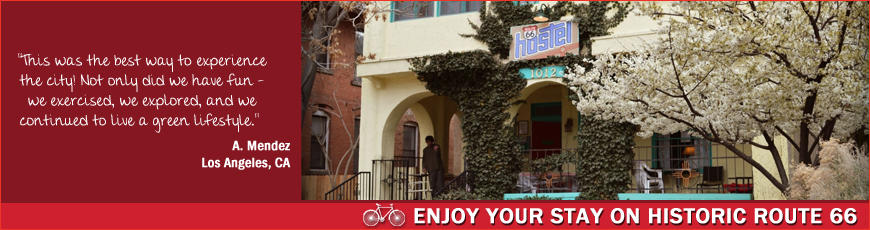 Route 66 Hostel is a Routes Bicycle Rentals and Tours Partner in Albuquerque New Mexico