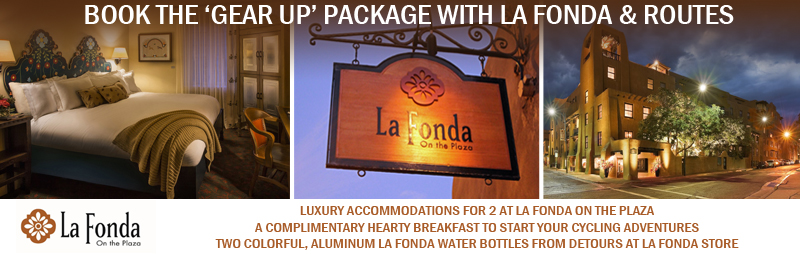 Join a Routes Bicycle Tour and stay at the luxurious La Fonda Hotel with this top package