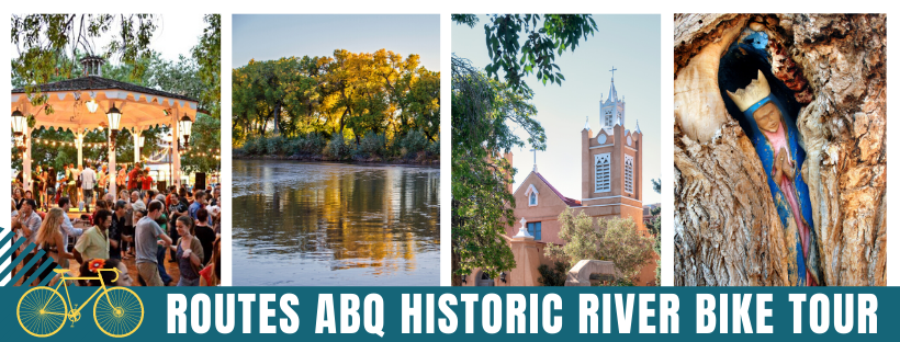 Albuquerque Bicycle Tour with Routes Bicycle Tours of New Mexico. Historic River Bike Tour.