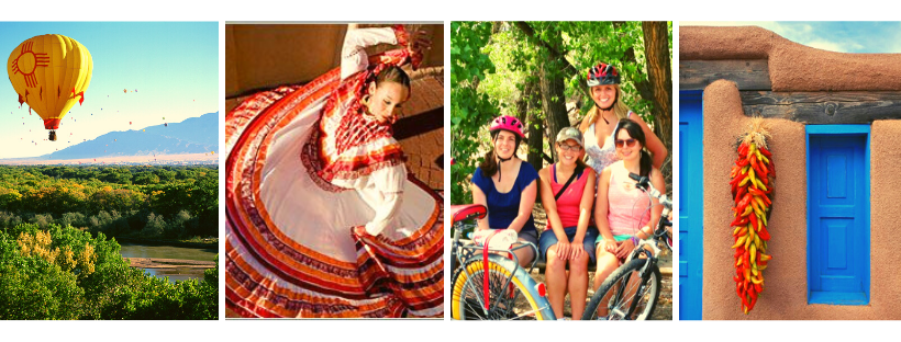 Routes Bicycle Tours of New Mexico features a historic bike tour through Old Town and the Rio Grande Bosque River Trail.