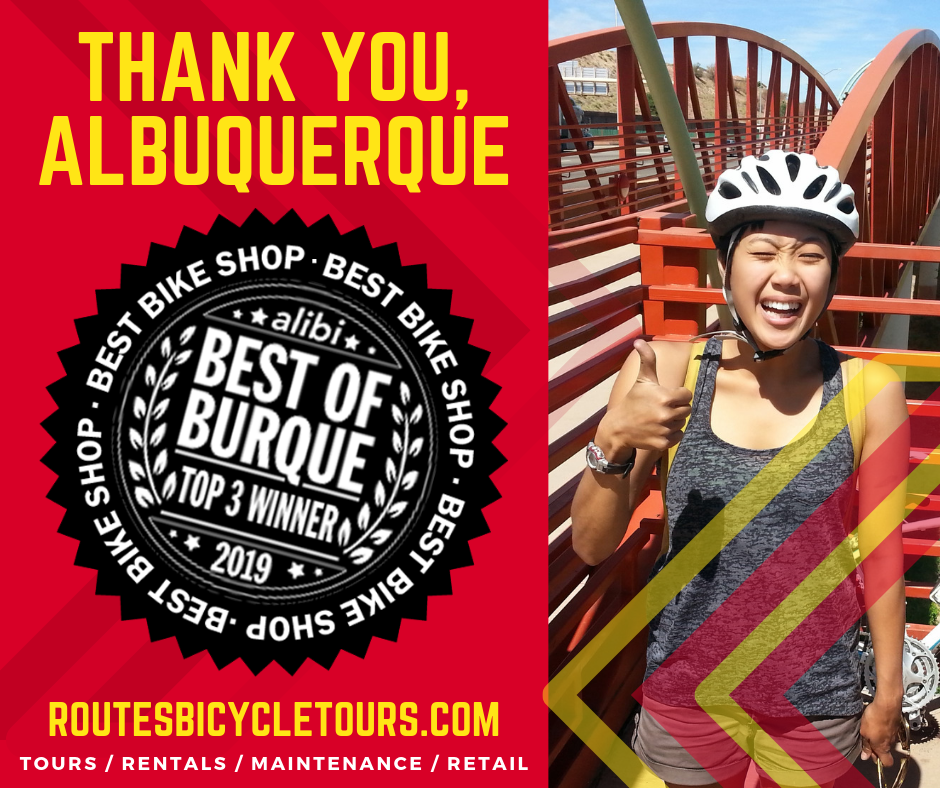 Routes voted best bike shop in ABQ