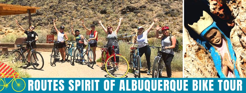 Albuquerque Bike Tour with Routes Bicycle Tours and Rentals New Mexico. Spirit of ABQ Scenic Bike Tour