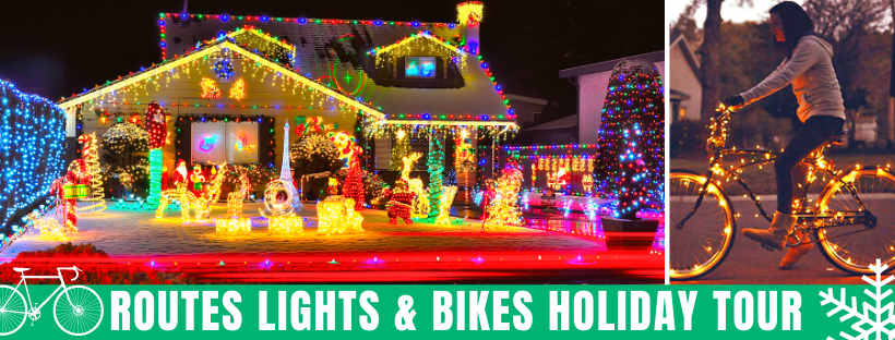 Routes Lights and Bikes Holiday Bike Tour of Albuquerque New Mexico